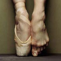 This is what it means to be on pointe….literally.
