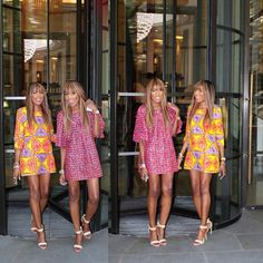 Stepping out in designs by yours truly,Available online now #London #Dpipertwins #allsmiles #twinning #nationalsisterday #nationaltwinday