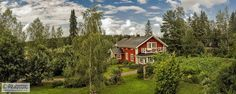 From day to night, from grass to snow (pano 5 Image, Finland, Grass, Snow, Cabin, Night, House Styles, Day, Pictures