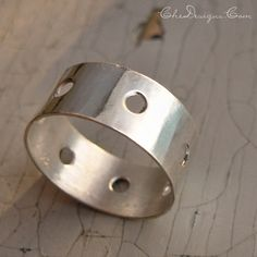 Handmade Wide Band Ring in Sterling Silver, Engagement, Wedding,Size 6 by che4u - Hybrid Her Bazaar - Buy. Sell. Share.