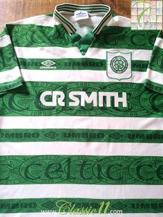 Relive Celtic's 1995/1996 season with this original Umbro home football shirt.