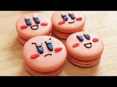 This week on Nerdy Nummies, Rosanna Pansino made Kirby Macaroons! They're so cute!!