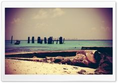 Beach Retro Photography HD Wide Wallpaper for Widescreen