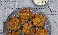 Gluten-free bhajis with a dairy-free mango and mint dip | Party season snack tables are rarely a place of plenty if you have a free-from diet – but here's a fresh, winning combo