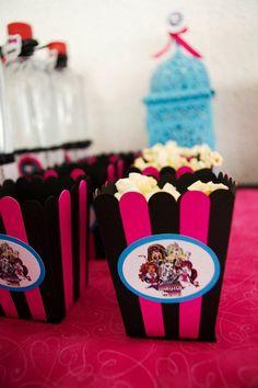 Palomitas, cabritas, crispetas monster High fiesta de cumpleaños