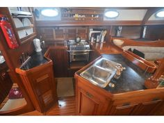 Sailboat Interior, Yacht Interior, Bristol Channel, Best Tiny House, Speed Boats, Liquor Cabinet, Sailing, Airstream, Kitchen Inspiration