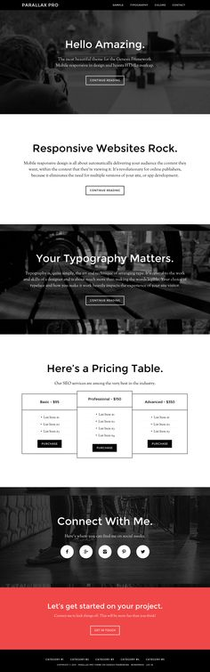 Parallax Pro from StudioPress - a beautiful wordpress theme. Pricing Table, Landing Page Design, News Sites, Up And Running, Best Wordpress Themes, Typography, Ecommerce, Free, Beautiful