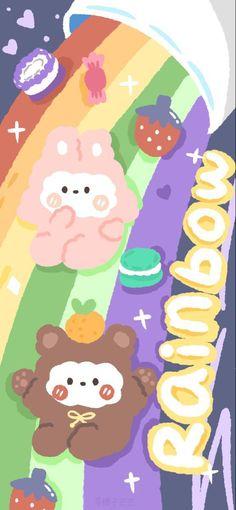 Cute Pastel Wallpaper, Soft Wallpaper, Bear Wallpaper, Cute Patterns Wallpaper, Kawaii Wallpaper, Wallpaper Iphone Cute, Aesthetic Iphone Wallpaper, Disney Wallpaper, Walpapers Cute