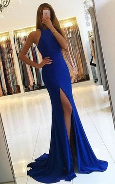 Simple Prom Dresses, royal blue prom dresses mermaid prom dresses long prom dresses front split prom dress evening gowns prom dresses for teens modest prom gowns wedding party dresses L Modest Prom Gowns, Split Prom Dresses, Royal Blue Prom Dresses, Prom Dresses For Teens, Cheap Prom Dresses, Prom Party Dresses, Homecoming Dresses, Dress Prom, Party Gowns