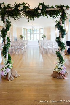 A stunning birch wood archway from Sabine at G Lily. This could be placed as an entrance to the ceremony aisle or behind the ceremony table to frame the couple during the ceremony and during the signing of the registrar