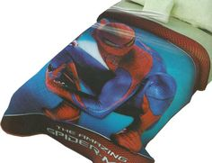 The Spiderman 4 Mink Blanket measures 60x80 inches and comes in a reusable plastic carrying case.  It is big enough to cover yourself on your sofa or drape over a twin or full size bed. It is officially licensed. These blankets are extra warm & plush and have superior durability. Easy Care, machine wash and dry. Buy online www.TheBlanketCompany.com or Call at (801) 280-6200.