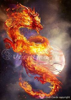 """Fire burns in the stillness of night. The darkness cannot control the light. ~TW """"Fire dragon by Vasylina"""" Mythical Creatures Art, Mythological Creatures, Magical Creatures, Cool Dragons, Fantasy Beasts, Dragon Artwork, Dragon Drawings, Dragon Pictures, Fire Art"""