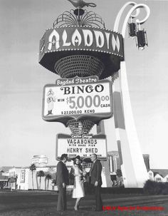 Aladdin c. 1960s - what an awesome sign... Too bad it's gone.