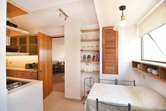 Extended kitchen in