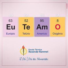 Dia dos Namorados para a  ETRR - Escola Técnica Rezende-Rammel | Para ter amor é preciso ter química e isso a ETRR tem. Em uma Escola Técnica com especialização em  química, o dia dos namorados não poderia ser comemorado de uma forma diferente.