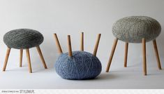 Tabourets pelote. - Wood stools. Try to DIY?