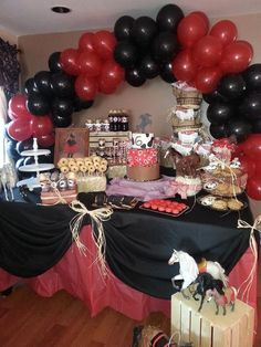 Check out this amazing Western party!  See more party ideas at CatchMyParty.com!    #cowboy