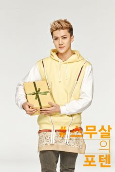 Twitter / SMTownFamily: {PROMO} 140514 Sehun for Sunny10's promotional picture