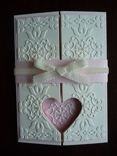 handmade card from A Fanatical Stamper: Punched Double Gatefold Card ... stunningly gorgeous!!