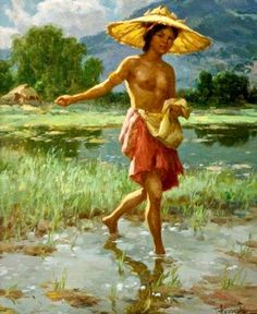 """Fernando Amorsolo y Cueto, Filipino painter, was an important influence on contemporary Filipino art and artists, even beyond the so-called """"Amorsolo school"""". Subjects: Philippine Genre, historical and society Portraits. Arte Filipino, Filipino Culture, Philippine Art, Great Paintings, Vintage Artwork, Renaissance Art, Art Studies, Magazine Art, Creative Art"""