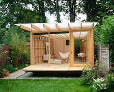 garden shed via houzz gardening sheds peaceful ideas pinterest houzz and gardens - Garden Sheds With A Difference
