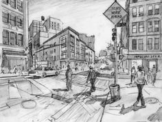 New York Sunshine Nathan Walsh 2 point perspective