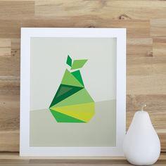 Pear Framed Art Print #rosenberryrooms #modernart