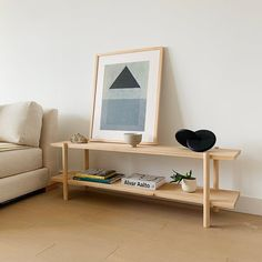 Modern Nordic Low shelving unit with a Scandinavian vibe. Shelves and legs made from solid wood. Modern Shelving Units, Minimal Furniture, Wooden Shelving Units, Custom Furniture, Furniture Inspiration, Shelving Unit Bedroom, Scandinavian Shelves, Bookshelves Diy, Low Bookcase