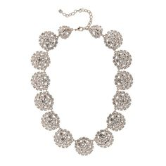 Martine Wester Crystal Cluster Necklace - Bridal Jewellery - Crystal Bridal Accessories