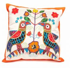 Pillow Cover- Birds | Handcrafting Justice
