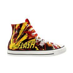 fbf3a936aac39f Converse All Star Chucks – Flash DC Comics – Blitzmann   Roter Blitz