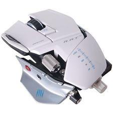 MadCatz mcb437090001021 игровой оптическая мышь белая крыса 9 серии w/twin глаз лазерный