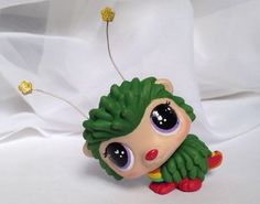 HobbyMomCustoms Littlest pet shop * Rainbow Sprite * Custom Hand Painted LPS Hedgehog OOAK #Hasbro