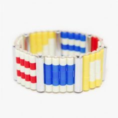 Just another thing to make. Bold Jewelry, Diy Jewelry, Nautical Flags, Nautical Bracelet, Craft Night, Handmade Bracelets, Perler Beads, Bangles, Awesome Things