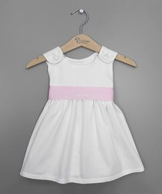 Loving this White & Pink Personalized Sash Jumper - Infant, Toddler & Girls on #zulily! #zulilyfinds