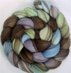 Lavender, sky blue, lime green over brown stripe