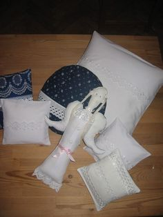 Angel with pillows