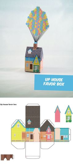 Create your own Disneys UP House Favor Box!