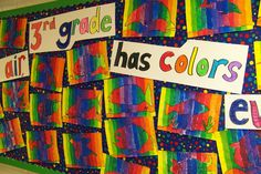 and grade art projects color theory 36 Ideas Color Art Lessons, Color Wheel Art, 3rd Grade Art Lesson, Classe D'art, Jr Art, Easy Art Projects, Art Lessons Elementary, Art Classroom, Teaching Art