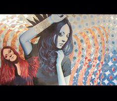 """""""Columbidea"""" 48""""x 72"""" Acrylic on canvas. 2012"""