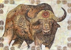 Buffalo is a mixed media image on a map by Val Myburgh Art Framed Prints, Canvas Prints, Art Prints, Media Images, Freelance Illustrator, Wall Tapestry, Art Boards, Decorative Throw Pillows, Painting & Drawing