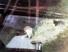 Tomte Tummetot by Astrid Lindgren Simply beautiful illustrations by Harald Wiberg. Fairy Land, Fairy Tales, Elves And Fairies, Fairytale Fantasies, Flower Fairies, Christmas Cats, Faeries, Portrait, Illustrators