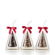 Chocolate Christmas Tree Ornaments, Set of 3 #GODIVA ($25.00)