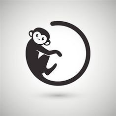 cute monkey logo in a shape of a circle new year 2016 vector illustration logo design Monkey Drawing, Monkey Art, Cute Monkey, Monkey King, Small Monkey, Monkey Illustration, Monkey Tattoos, Logo Shapes, Tattoos