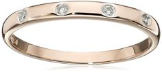 10k Rose Gold Diamond Accent Band * Click on the image for additional details.