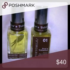 2 Anthropologie TokyoMilk Poe's Tobacco Perfume 2 bottles of 1 ounce each, both are full Anthropologie Other