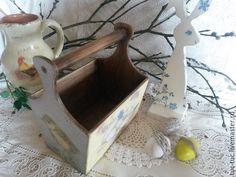 """Купить Лукошко """"Весна"""" - лукошко, Пасха, короб для хранения, птенец, яйца, корзинка для яиц, подарок"""