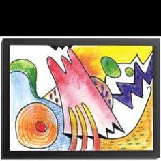 Kandinsky inspired kids art:)