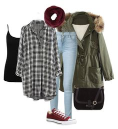 """""""Casual. #2"""" by ameliemeyer on Polyvore featuring WithChic, Frame Denim, M&Co, Madewell, Converse and BCBGMAXAZRIA"""