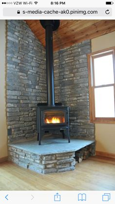 Stone color for our pellet stove area